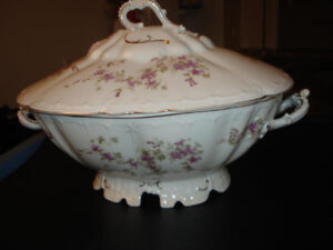 MZ Austria Porcelain China Flowered - Dishes Collection