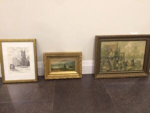Gorgeous antique prints and paintings for sale!!!