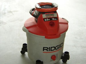 RIGID 6 HP 16 GALLON WET-DRY SHOP VACUUM