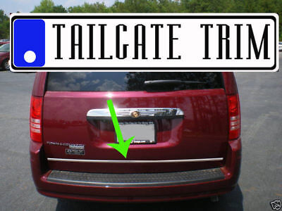 Chrysler TOWN&COUNTRY 2008 2009 2010-2016 Chrome Tailgate Trunk Trim Molding