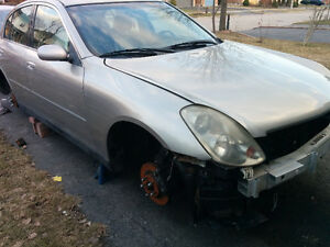 2004 Infiniti G35x Sedan PARTS ONLY FOR SALE (647) 485 3785