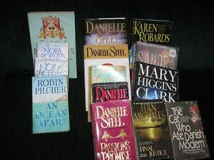 books,nora roberts/ sandra brown and others