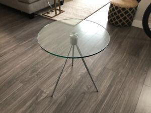 Urban Barn Glass End Table