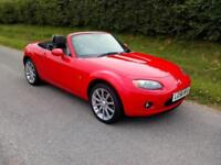 2006 MAZDA MX-5 2.0i SPORT, MANUAL, BRIGHT RED WITH BLACK LEATHER, AIRCON