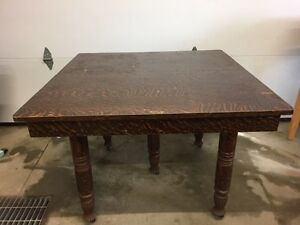 $250 obo - Five legged antique table with leaves