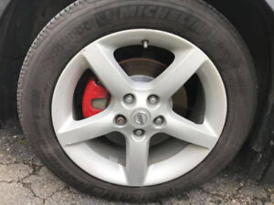 17 inch alloy wheels for nissan with all season 215 55R 17 tires