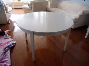 """Table ronde Bois massif (120cm / 46"""") Solid wood round table"""