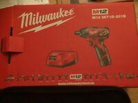 Milwaukee m12 set 1d-201b (new)
