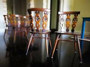 Made in England!! Antique ERCOL hand carved wood dining chairs x6 North Perth Vincent Area Preview