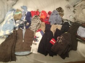 Bundle of baby boys clothing age 6-9/ 9-12 months