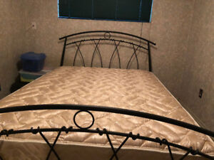 Queen Size Bed Frame - Wrought Iron