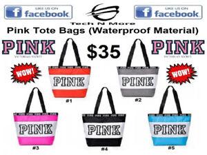 Pink Tote Bags (5 Colors)