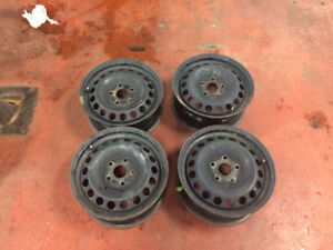 "Four 5x112 steel rims 16"" (golf, jetta)"