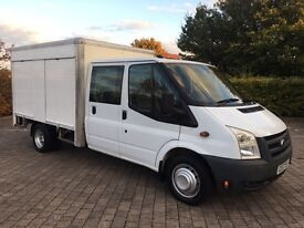 2008 Ford Transit 2.4 TDCi 350 LWB CREW CAB, BOX VAN, 50k WARRANTED MILES, LEATHER, NO VAT