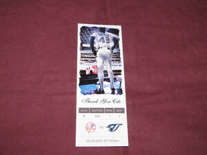 Souvenir 'ticket' from 2010 Jays/Yanks game, honoring Cito*