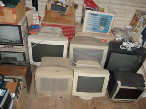 For Sale Lot of 6  CRT Monitors All working