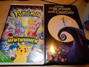 Pokemon The First Movie & Nightmare Before Christmas - VHS Tapes