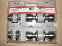 NEW lock set ,door knobs and deadbolts