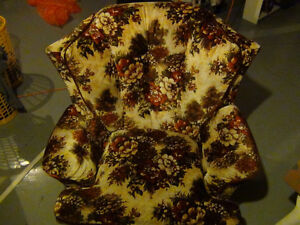 ARM CHAIR W / MATCHING OTTOMAN.