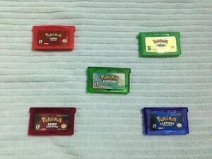 Pokemon Gba Games_ Emerald, FireRed, LeafGreen, Ruby & Sapphire