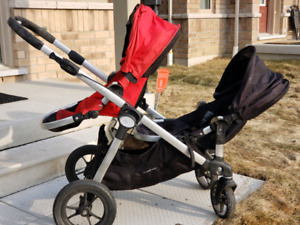 Baby Jogger City Select Double Stroller with 2nd Seat included.