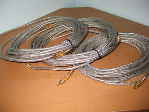 High definition video cables - 3 available each 25 feet long