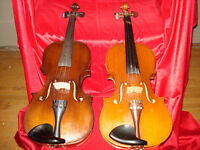 Two Violin's and case for sale