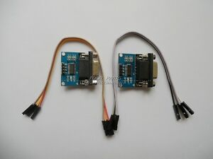 2pcs MAX3232 RS232 Serial Port To TTL Converter Module DB9 Connector w cable N43