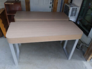 2 heavy duty desks/wall tables for respeption area.