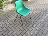 23 green plastic chairs free