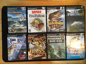 Console PlayStation PS2 + 14 jeux donc 8 de pêche Saguenay Saguenay-Lac-Saint-Jean image 2