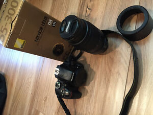 Nikon D3300 body and 55-300 mm lens