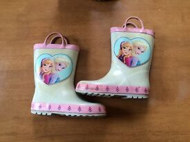 2 X pairs of frozen wellies welly boots size 10