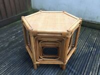 Set of 3 nest of table,wicker, for conservatory