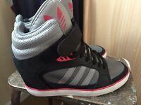 Black ladies adidas trainers size 8 £20 o.n.o