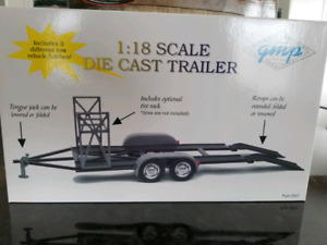 1:18 Diecast GMP Trailer Tire Rack Foldable Ramps