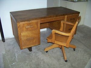 1965 desk with chair