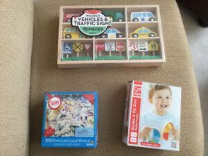 Brand New In Box Melissa and Doug Vehicle aand Signs