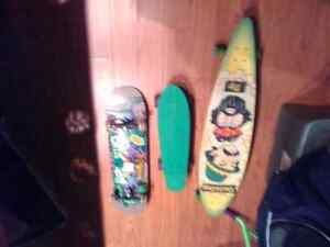 3 boards . All used lightly .