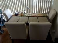 Dining table 4/6 with 4 chairs - moving sale