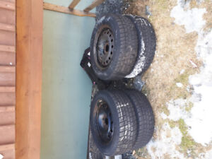 Winter tires and rims for sale. Only $75..READ ADD..