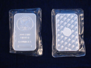 Bar en argent/silver 5 oz sunshine sealed