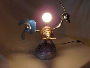 Steampunk Robot Lamp