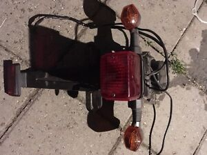 Drz400sm stock tailight assembly with stock signal lights
