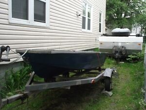12 Foot Fibreglass Boat and Trailer