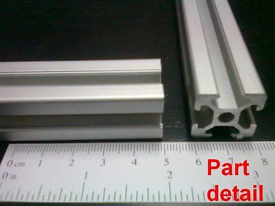 Aluminum T-slot 2020 Extruded Profile 20x20-6mm Length 650mm 2 Pieces Set