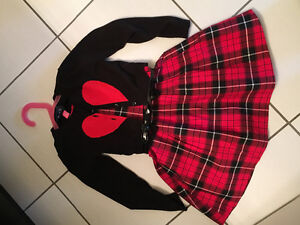 Size 4 girls dress and sweater