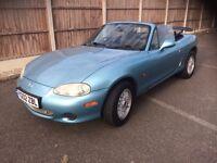 Mazda mx 5 convertible 1.6 2002 mettalic blue low miles fsh long mot Excellent condition