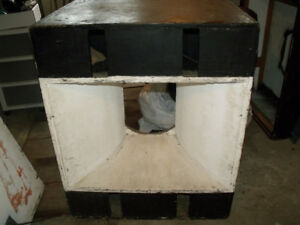 """15"""" hand made speaker cabinets for an outdoor PA system"""