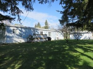 Mobile home, garage and lot for sale